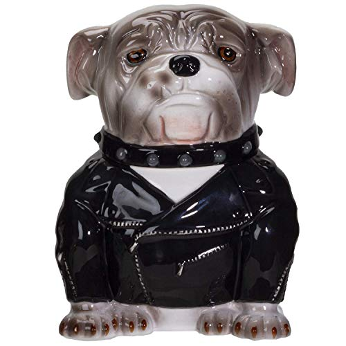 Pacific Giftware Rocker Bulldog Ceramic Cookie Jar