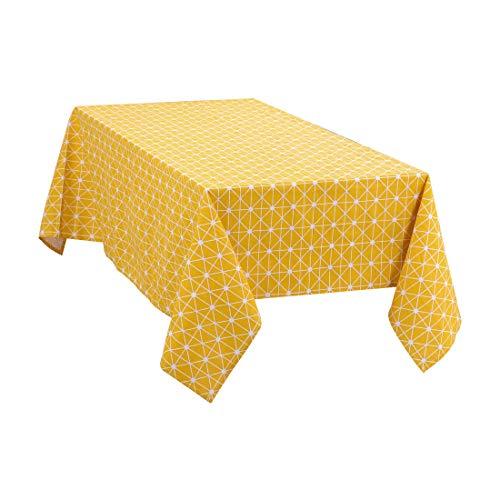 uxcell Manteles rectangulares de algodón Suaves, Resistentes a Las Manchas de Aceite, Antideslizantes, diseño de Cuadros, 55 x 71 Pulgadas, 2