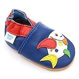 Dotty Fish - Garçons et Filles Chaussures Cuir Souple bébé et Bambin – Poisson...