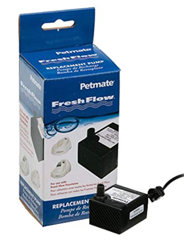 Petmate Fresh Flow Deluxe Replacement Pump 120V - Easy Install - AC Adapter and Cord Included