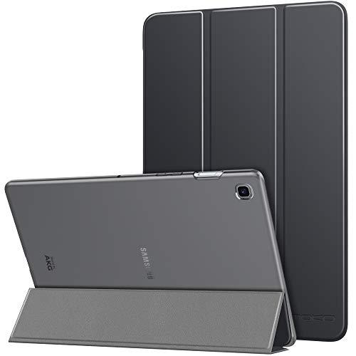 MoKo Hülle Kompatibel für Samsung Galaxy Tab S5e 2019, PU Leder Tasche Schutzhülle mit Transluzent Rücken Deckel Auto Schlaf/Wach Funktion Ideal für Galaxy Tab S5e SM-T720/SM-T725 2019 - Space Grau