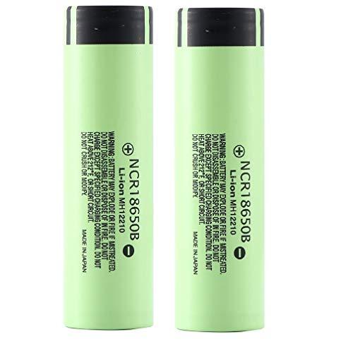 18650 Batería de Litio Recargable 3.7V 3400mAh Baterías de botón de Gran Capacidad para Linterna LED, iluminación de...