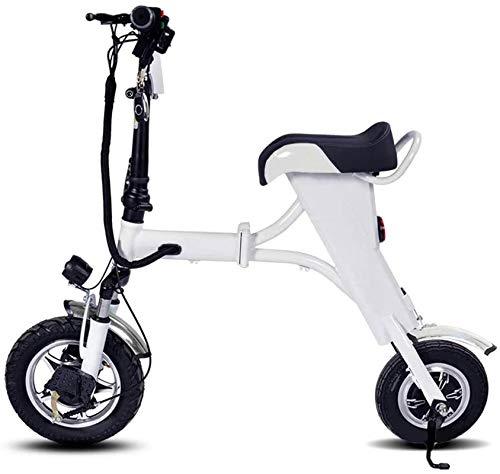 Bicicleta eléctrica de nieve, Bicicleta plegable eléctrica, inteligente bicicletas for adultos, 10' E-Bici plegable 250W Motor Pedal-Assistfoldable bicicletas, carga máxima de 120 Kg Batería de litio
