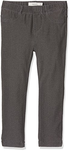 NAME IT Nittille Xxsl/xxsl Dnm Legging Nmt Noos, Pantalon Bébé fille, Gris (Dark Grey Denim), 92