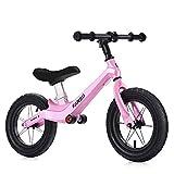 HJRBM Bicicletas para niños Coche Deslizante de Equilibrio para niños, sin Pedal Bicicleta de Equilibrio Ligera para Entrenamiento Infantil, Adecuada para niños y niñas de 2 a 6 años