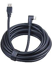 Oculus länkkabel 5 m, USB A till USB C-kabel höghastighetsdataöverföring och snabbladdande USB-kabel kompatibel med Quest1/Quest2 headset och spelPC