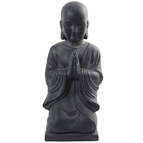 Nearly Natural 25.5' H Buddha Statue (Indoor/Outdoor), Gray