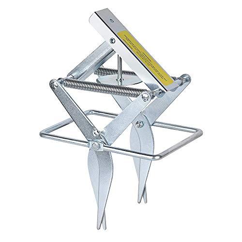 Price comparison product image AWESMR Plunger Mole Traps Scissor Gopher Trap Reusable Quick and Clean Kill, Alvanized Steel Mole Trap, 1 Scissor Trap