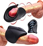 IBEST Mini Electric Male Tough Guy Glàns pẹnis Ring Vibrator, Clearly Visible Texture Elastic Cock Ring, a More Rigid Erection Sex Toy Suitable for Men or Couples to Play. Male Games, Sunglasses