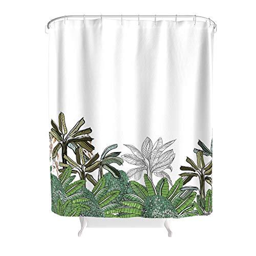 Toomjie Muster Duschvorhänge Modern Schimmel Resistent Shower Curtain Bad Vorhang für Badezimmer Badewanne White 120x200cm