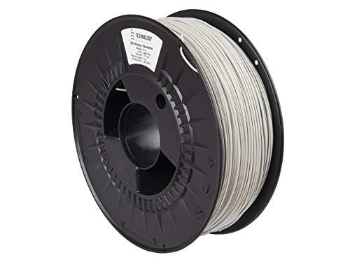 TECHNOLOGYOUTLET Premium 3D Printer Filament 1.75MM PLA Light Grey
