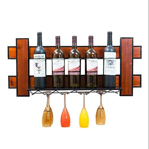 Estante para Vino Decoración Colgante de Pared Pared de Madera Copa de Vino Estante de Copa de Vidrio Estante de Boom Bar Cabina del Vino