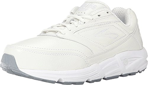 Brooks Womens Addiction Walker Walking Shoe - White - 2E - 9.5