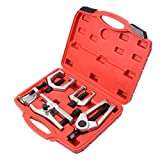 Handor 5 PCS Front End Service Tool Kit with Ball Joint Separator, Pitman Arm Puller, Tie Rod End Tool Set & Outer Tie Rod Remover, for Splitter Removal
