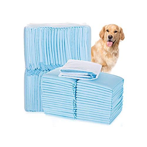 Keleily Welpentrainingspads 50 Stück Hunde Training Pads Super Saugfähig Inkontinenz-unterlagen Einweg Atmungsaktiv Welpen Unterlage Auslaufsichere Bodenschutzmatte für Hunde, Katzen, 33 x 45 cm