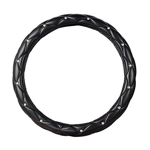 Aumo-Mate's T438 Soft PU Leather Skidproof Steering Wheel Cover