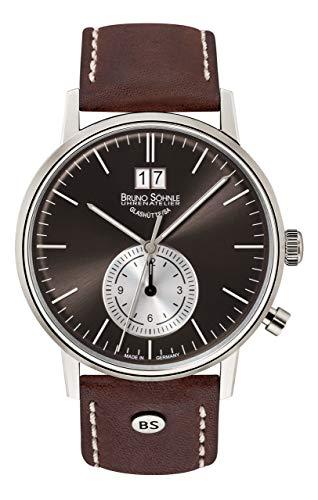 Bruno Söhnle Herren Analog Quarz Uhr mit Leder Armband 17-13180-841