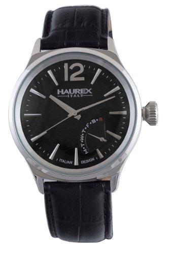 Haurex Italy Elegant Grand Class Black Dial Watch #6A341UN1- Orologio da uomo