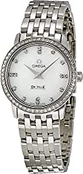 Deville Prestige Silver Bracelet with Whith Dial Watch