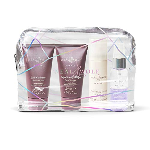 Neal & Wolf Ritual Mini Travel Size Shampoo, Conditioner, Hairspray & Blow-dry Mist