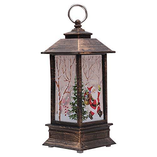Gfeu Christmas Decorations, antivento, luci di Natale candeliere Crafts Hanging lanterna casa di...