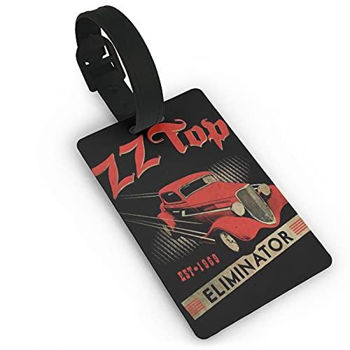 Zz Top Cuero Equipaje Etiquetas para Hombres Mujeres Maleta Etiquetas Bolsa de equipaje Etiqueta de ID Etiquetas de Viaje Accesorios Etiquetas PVC 2.0*3.7 pulgadas