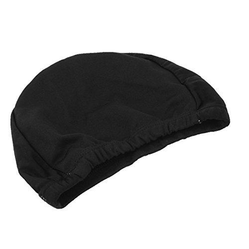 sourcingmap Élastique Polyester Forme Dôme Unisexe Natation Bonnet De Bain 2pcs Noir