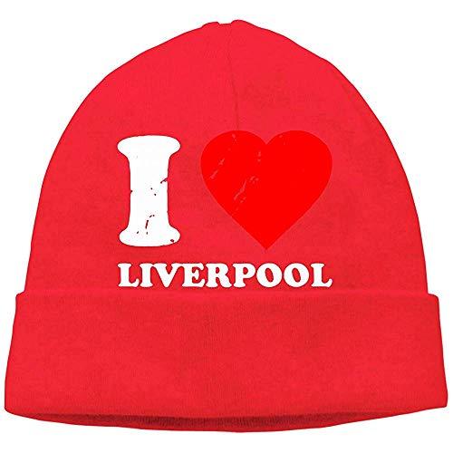 """H.D. Beanies - Gorros para hombre y mujer, diseño con texto en inglés """"Je aime Liverpool"""""""