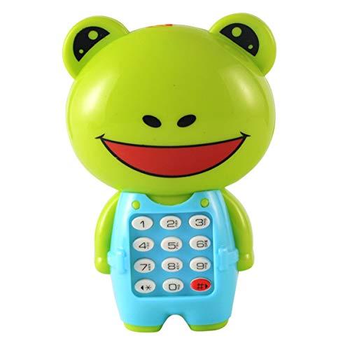 Morninganswer Teléfono con música de Dibujos Animados, Rompecabezas para niños Brillante, Regalo para bebés, teléfono con música para niños, Juguetes portátiles prácticos Resistentes al Desgaste