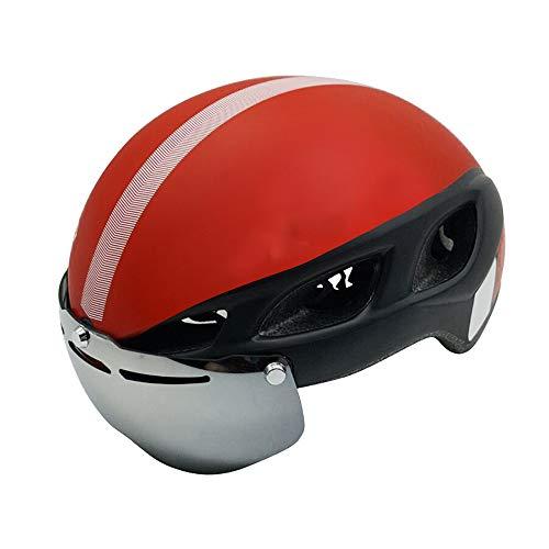 OFAY Een Fietshelm, Eéndelig Magnetische Goggles Verstelbare Veiligheid Air Helm, Geschikt voor Jonge Mannen En Vrouwen op Road Mountainbike Riding Equipment