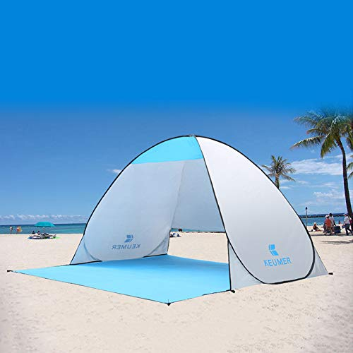 Revanak Best Pop up Beach Tent, Easy Setup Outdoor Sun Shelter, Portable Sun Shade Instant Tent with Carrying Bag. (Sun shelter)