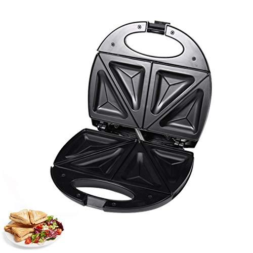 ZHAOZC Sandwich Toaster Parrill Maker - Griddle Toasty Fabricante con Placas antiadherentes y Placas de no Palo y Asas de Toque Fresco- 750W- Negro, Bocadillos de Desayuno y bocadillos de Queso