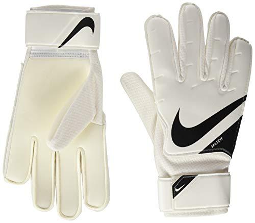 Nike NK GK MATCH-FA20, Guanti da Calcio Unisex – Adulto, White/Black/(Black), 6