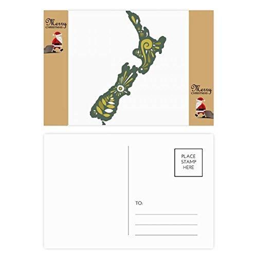 Nieuw-Zeeland Greenery Sunshine Island Kerstman Gift Ansichtkaart Thanks Card Mailing 20 stks