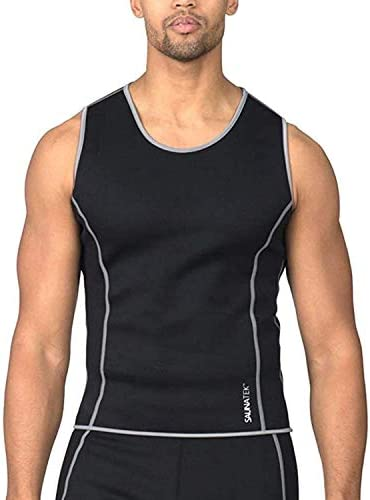 SaunaTek Men s Sauna Sweat Suit Tank Top for Weight Loss and Body Fat Slimming Neoprene Large product image