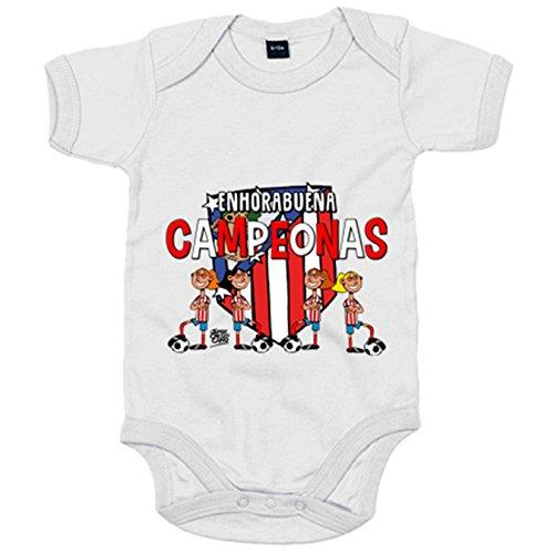 Body bebé Atlético de Madrid Féminas campeonas fútbol femenino - Gris, 12-18 meses