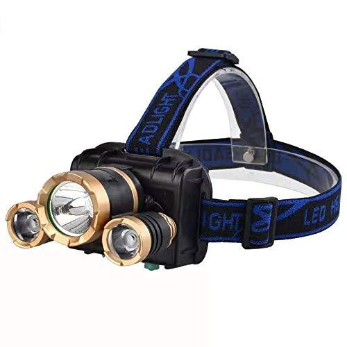 DIRIGIÓ Rotación de Largo Alcance sin Route la lámpara de Faros de Zoom Pesca Pesca Promiscuate Linterna Recargable (Color : C)