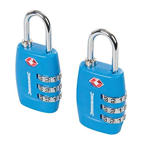 Jeu de 2 cadenas à bagages TSA Combinaison à 3 chiffres