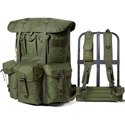 Military Rucksack Alice Pack Army Survival Combat Field Backpack with Frame Olive Drab