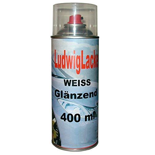 Weiß glänzend 1 Spraydose Autolack glänzend Farbton 400ml