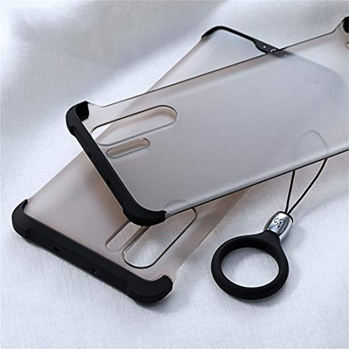 Phone Case Phone Cover Funda Protectora de TPU a Prueba de Golpes XUNDD Matin Series para Huawei P30 Pro, con Anillo (Negro) + Moda (Color : Black)