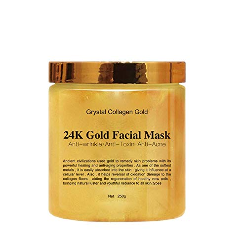 24k Gold Peel Off Mask Anti Wrinkle Anti Aging Facial Mask Face Care Whitening Face Masks Skin Care Face Lifting Firming Mask, 250g