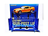 GreenLight Four-Post Lift (1:18 Scale), Blue
