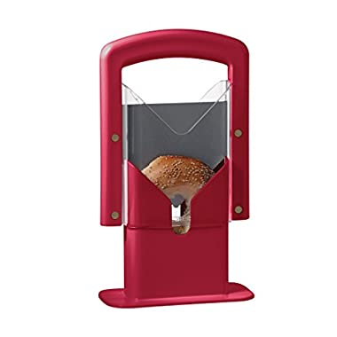 Hoan Bagel Guillotine Slicer, Red,