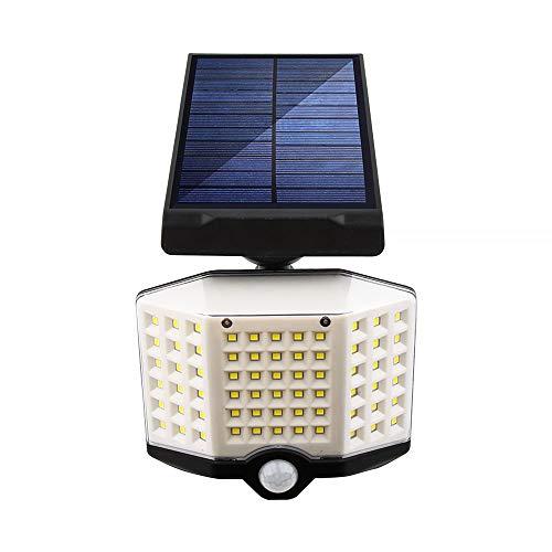 Laiashley Luz solar de seguridad con sensor solar, resistente al agua, superbrillante, lámpara giratoria de 180 grados con 3 modos para jardín