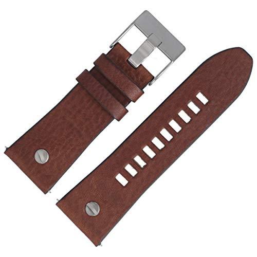 Diesel DZ-7314 - Correa de piel para reloj de pulsera, 28 mm, color marrón