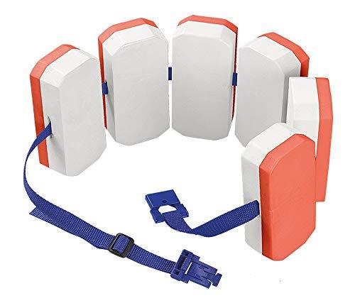 Bema® Kinder Schwimm Gürtel Orange Schwimmweste Baby Lern Hilfe Baden Manschette (6 Auftriebskörper | Doppelpack) 6-12 Jahre