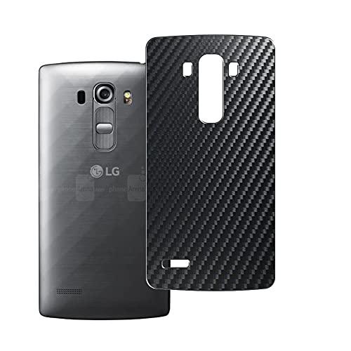 Vaxson 2 Unidades Protector de pantalla Posterior, compatible con LG G4 Beat/LG G4s / H735 / H735DS, Película Protectora Espalda Skin Cover - Fibra de Carbono Negro