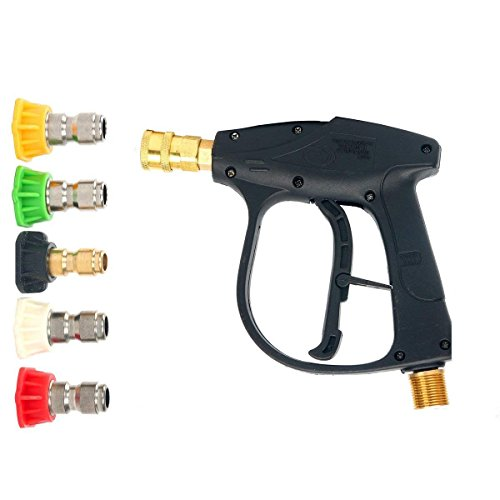 FreeTec 3000 PSI Max Pistola Con Ugello Per Acqua A 5 Colori, GMP 2.5, Idropulitrice Professionale Per Auto