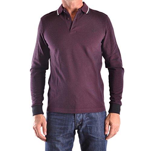 Fred Perry Herren Long Sleeve Twin Tipped Shirt Poloshirt, Mahagoni Blk OXF, Klein